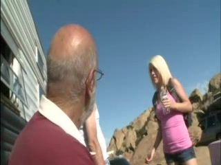 Strange Daddy Prepared Big Surprise For Blond Teen