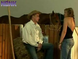 Mature Woman Fucked By Young Cowboy In a Barn