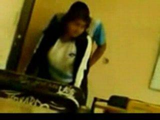 Real Indian Schoolgirl Fucked in A Classroom Between Classes