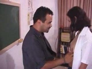 Teacher Checking Indians Teen Student Knowledge In The Classroom