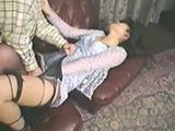Japanese Housewife In Black Pantyhose fucked In Her House