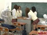 Japanese Schoolgirls Fucked By Invincible Men In Classroom