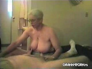 Grandma and granddad handjob