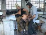 Mature German Lady Fucked In a Workshop By Her Young Lover
