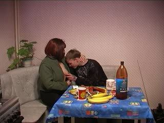 Russian Mom Seduce and Fuck Husband's Boy Cousin