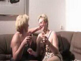 Lesbian Grandmas Celebrating Evening