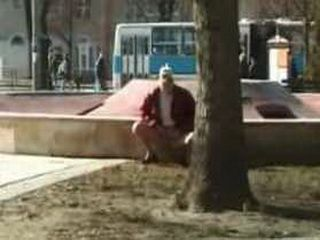 Blond Lady Public Pissing