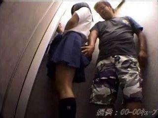 Asian Schoolgirl Groped and Fucked In Elevator