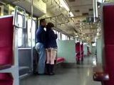 Japanese Teen Surprised In Train