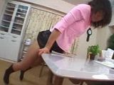 Japanese Woman Humps Chair And Table