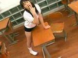 Japanese Girl Humps Classroom Desk