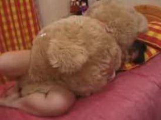 Japanese Woman Humps Giant Teddy Bear