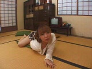 Japanese Woman Humps Pillow On The Floor