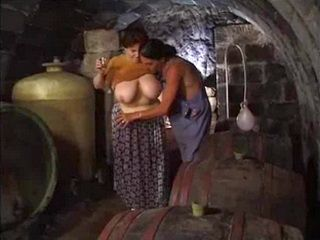 BBW Mature Woman Fucked By Young Servant In Husband's Vine Cellar