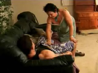 Old Granny Wake Up Grand Daughter's Boyfriend For School With Blowjob