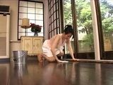 Japanese Housewife Interrupted While Cleaning House and Violated