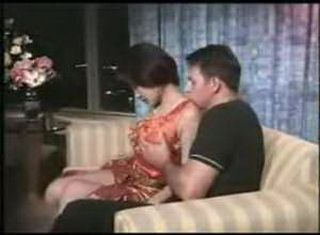 American Man Used Asian Milf On The Sofa