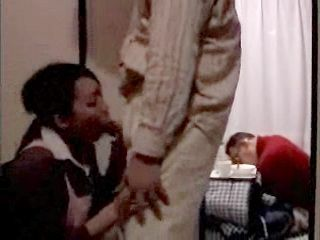 Slutty Wife Fucks Guest Beside Her  Sleeping Husband