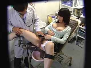 Girl at Gyno Exam