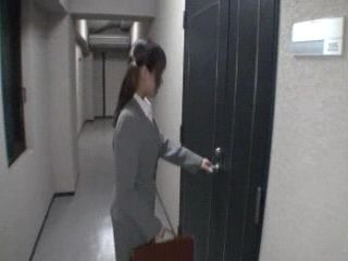 Japanese Teen Secretary Abused For Tekoki In Office At Job Interview