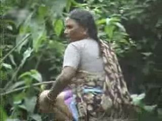 Indian Mature Woman Taped Peeing In Forest