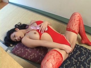 Lonely Hot MILF In Red Lingerie Uses Vibrator Toy To Reach Orgasm