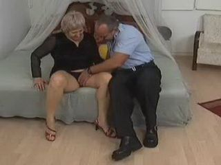 Neighbor Likes Grannys Pussy But He Would Like To Try Another Hole Also