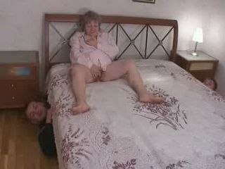 Russian Teens Showed Appeared Under Grannys Bed While She Masturbate