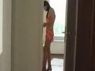 Teen Girl Preparing Her Pussy For Boyfriend