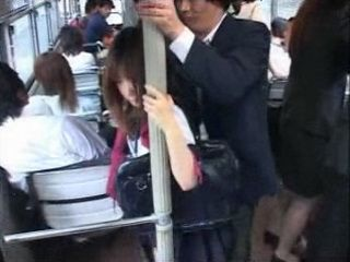 Teen Gets Groped and Fingered In japanese Bus By Old Pervert Stranger