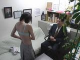 Old Boss Blackmails and Fucks Newbie Teen At His Office