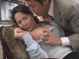 Busty Japanese MILF Housewfie Got Blackmailed and Fucked By Evil Husbands Friend