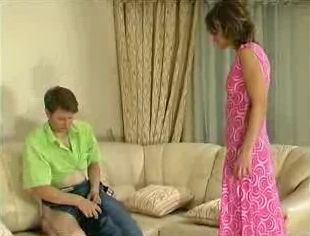 Young Mom Caught Brother In Law Jerking On Sofa