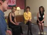 3 Mature Japanese Women Fuck a Guy