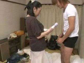 Uncles Wife Catches Boy Stimulating His Balls With Her Vibrator
