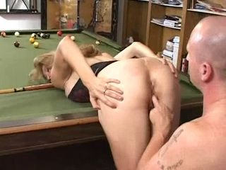 This Time Will Dad Hit Right Hole at Billiard Table