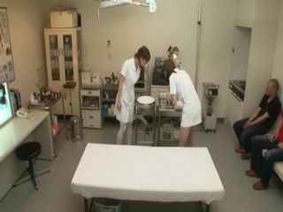 Nurses Taking Sperm Samples In Japanese Hospital