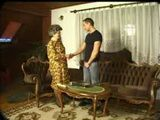 Grey Hair Grandma Helping A Young Man To Empty His Balls