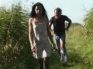 Maniac Attacked Tortured and Fucked Young Woman in the Field