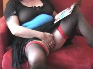 Mature Lady Dildoing Pussy And Ass