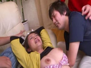 Japanese Mom Gets GangFucked By Stepsons Friends