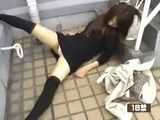 Girl Found Sleeping On The Stairs Got Her Clothes Cut With Scizzors