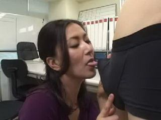 Asian Blow In Young Bosses Office
