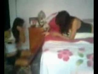 Amateur Guy Fucked Both Girlfriend And Her Best Friend