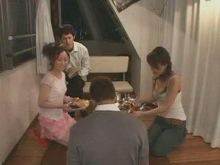 Japanese Girls Surprised Their Teen Roommate