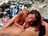Mature Suck At The Beach