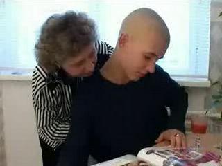 Horny Russian Granny Fucks Boy