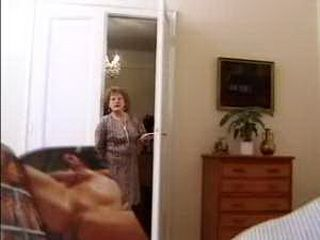 Granny Caught Neighbors Grandson Jerking And She Fucks Him