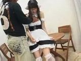 Teen Japanese Maid In Uniform Gets Fucked and Ass Fingered With Creampie Uncensored