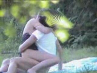 Teen Couple Having Sex In The Woods